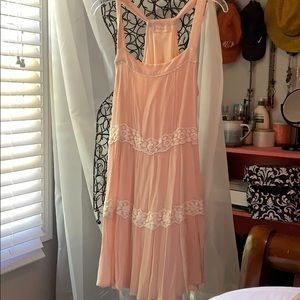 Pale Pink and lace altar'd state dress